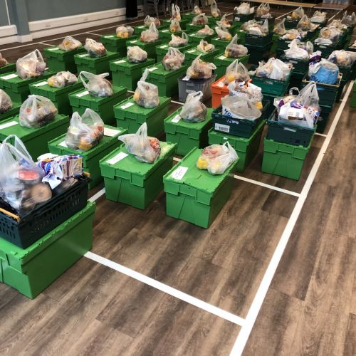 We are working with foodbanks to help the local community.